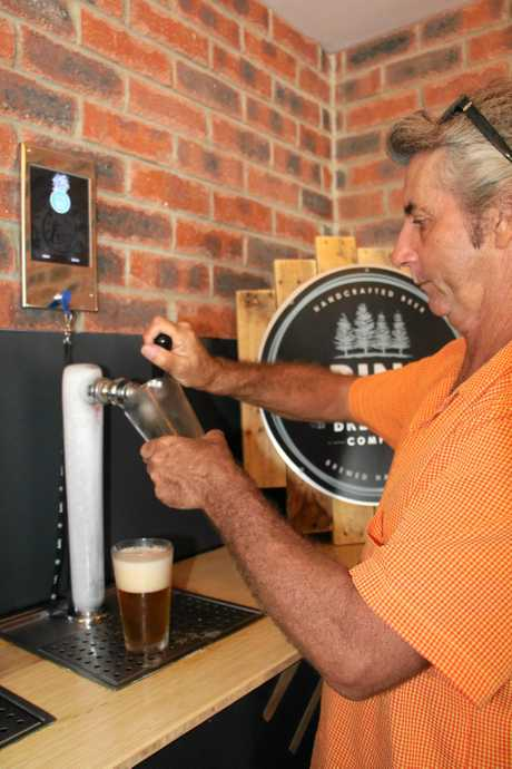 The pour your own beer taps at Taps Mooloolaba.
