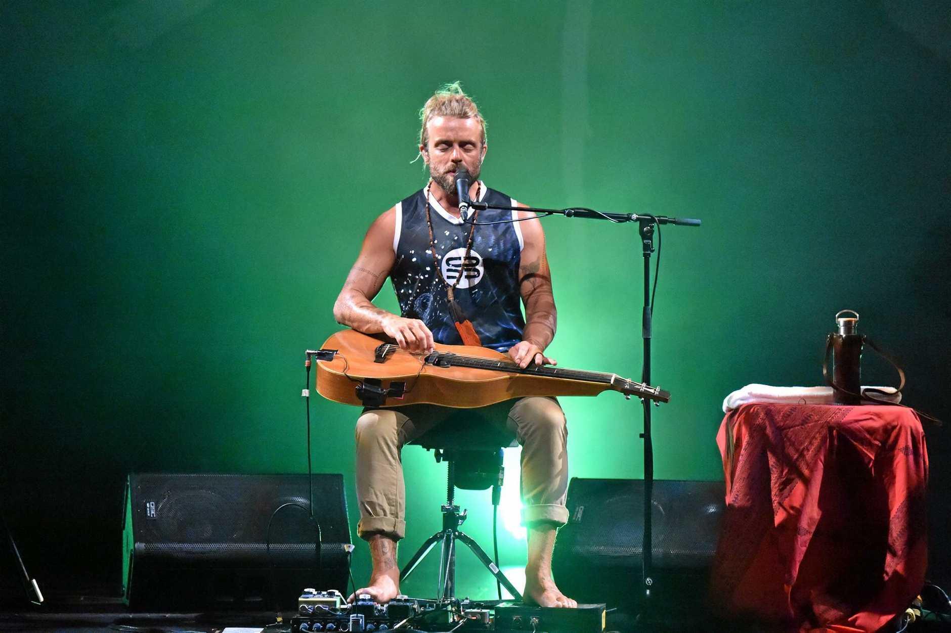 Xavier Rudd concert at the Brolga Theatre.