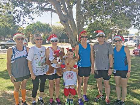 Hervey Bay's parkrun group gets ready for Christmas.