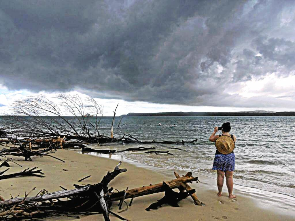 Summer storms at Inskip Point.