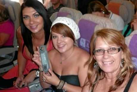 Shannah, Shandee and Vicki Blackburn before the tragic events of February 9, 2013.