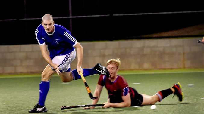 Brothers' Ben Brown (left) in action against Fraser Flames. Brothers will face Magpies in the men's competition.