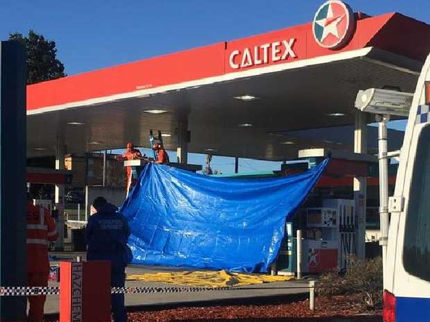 A fatal stabbing at a Caltex petrol station in Queanbeyan last night may have been captured on CCTV cameras. Picture: ABCSource:ABC