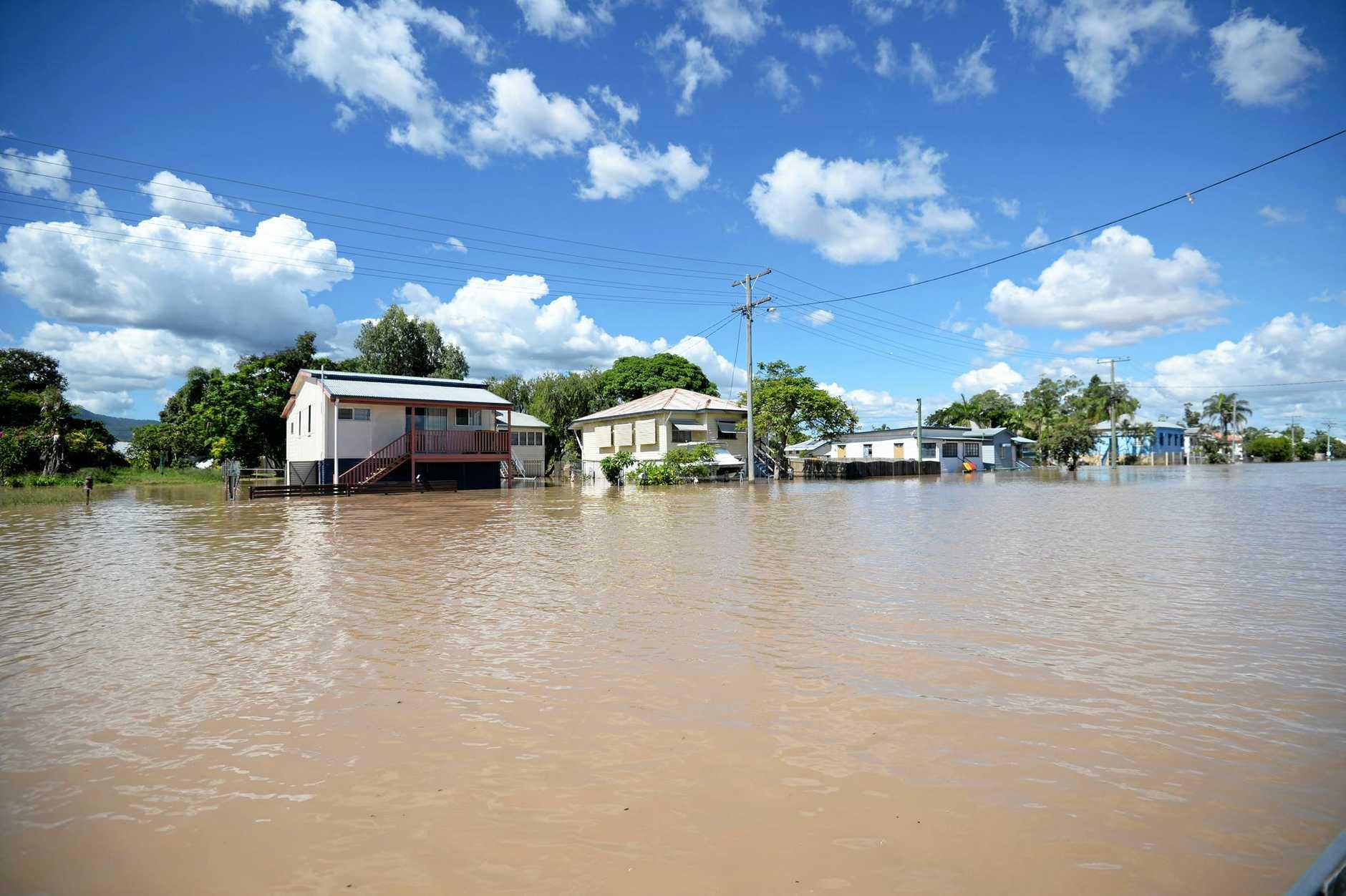Flood water Depot Hill.