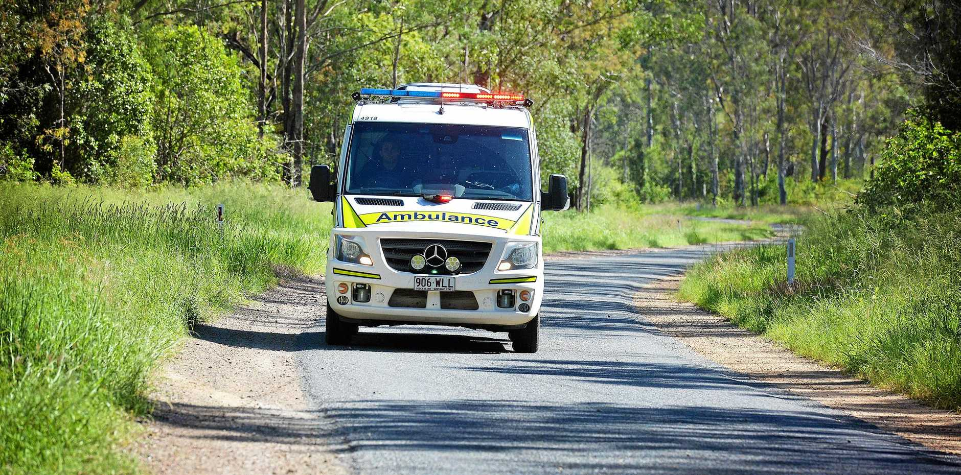 Queensland Ambulance Service attended a serious crash at Kybong.