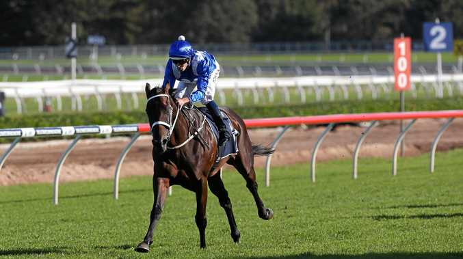 Winx, ridden Hugh Bowman, wins the Longines Queen Elizabeth Stakes.