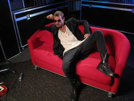 Lounge lizard: Daniel Johns during his guest programming slot on Rage