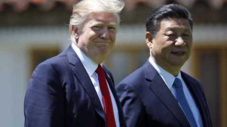 Trump was meeting again with his Chinese counterpart Friday, with U.S. missile strikes on Syria adding weight to his threat to act unilaterally against the nuclear weapons program of China's ally, North Korea.