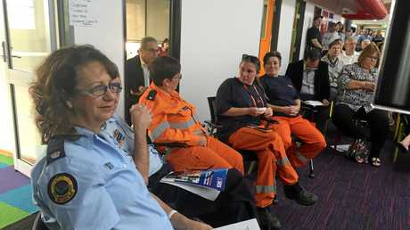 SES team at the Flood Recovery Forum organised by Lismore Chamber of Commerce at Southern Cross University.