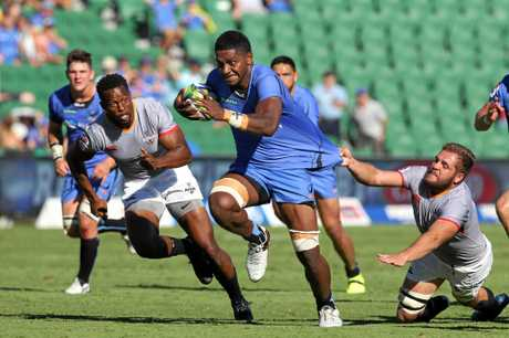 Isi Naisarani of the Force during the Round 7 Super Rugby match between the Western Force and the Southern Kings at NIB Stadium in Perth