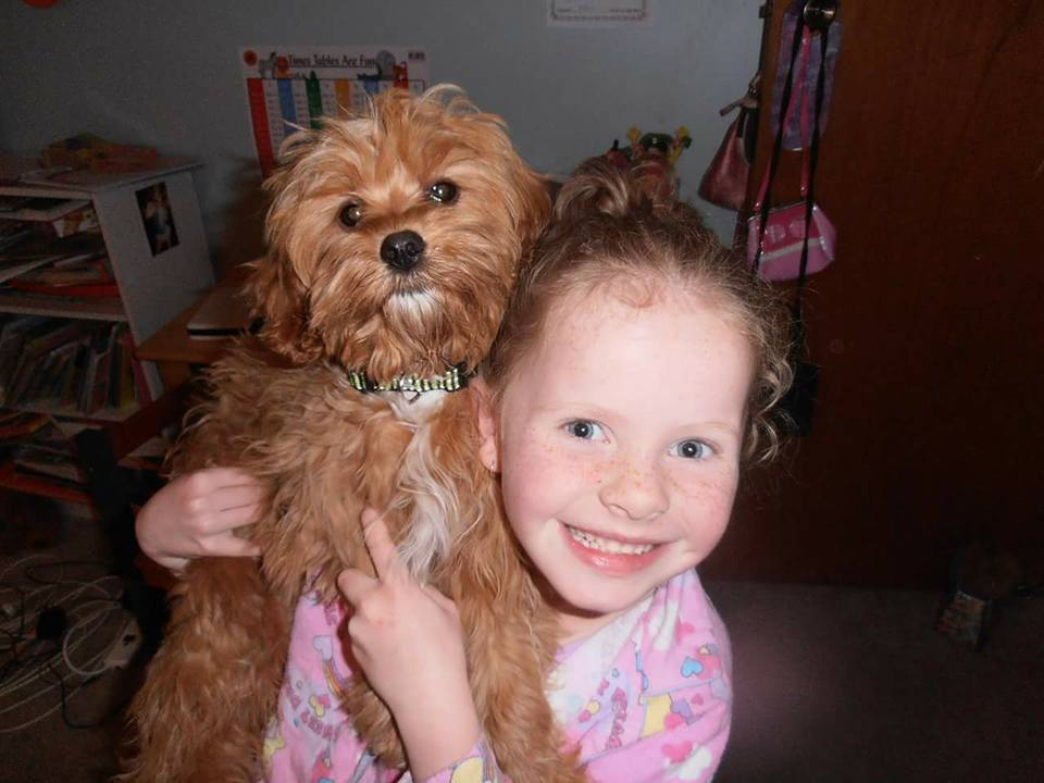 Summer-Rose Mackay, 11, with her pet caboodle Ruby, 6.