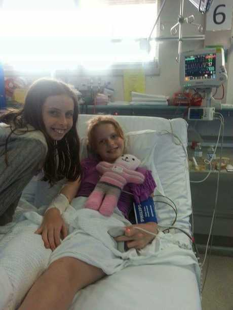 Summer-Rose Mackay pictured with her sister, Harmony, 13.
