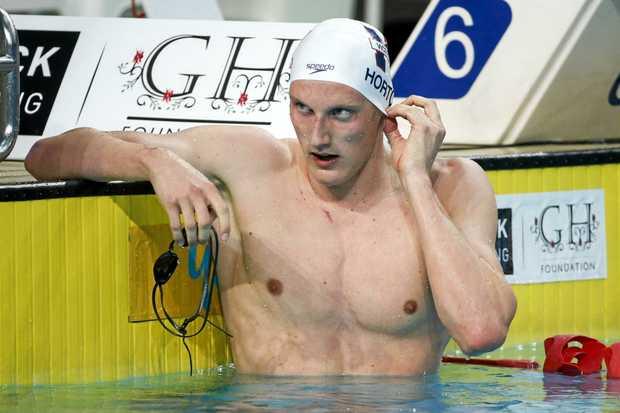 Mack Horton, winner of the mens 400m freestyle final