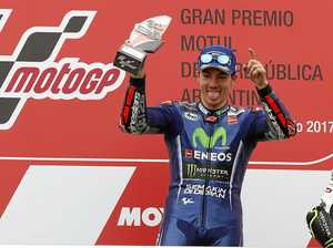 Vinales claims second MotoGP win after disaster strikes champ