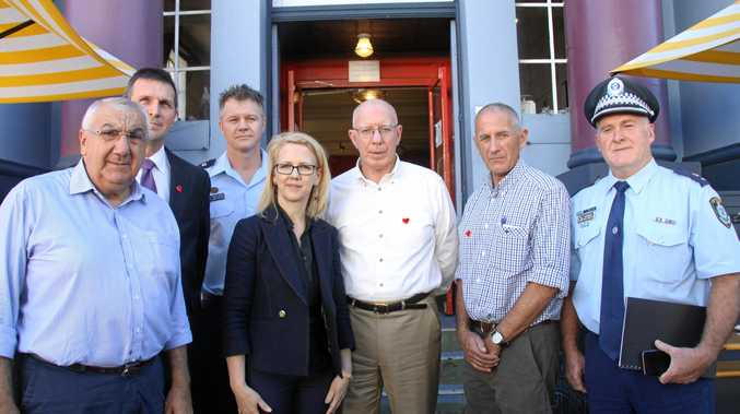 NSW Governor, his Excellency David Hurley visited Lismore on Monday and met with city and emergency services leaders.
