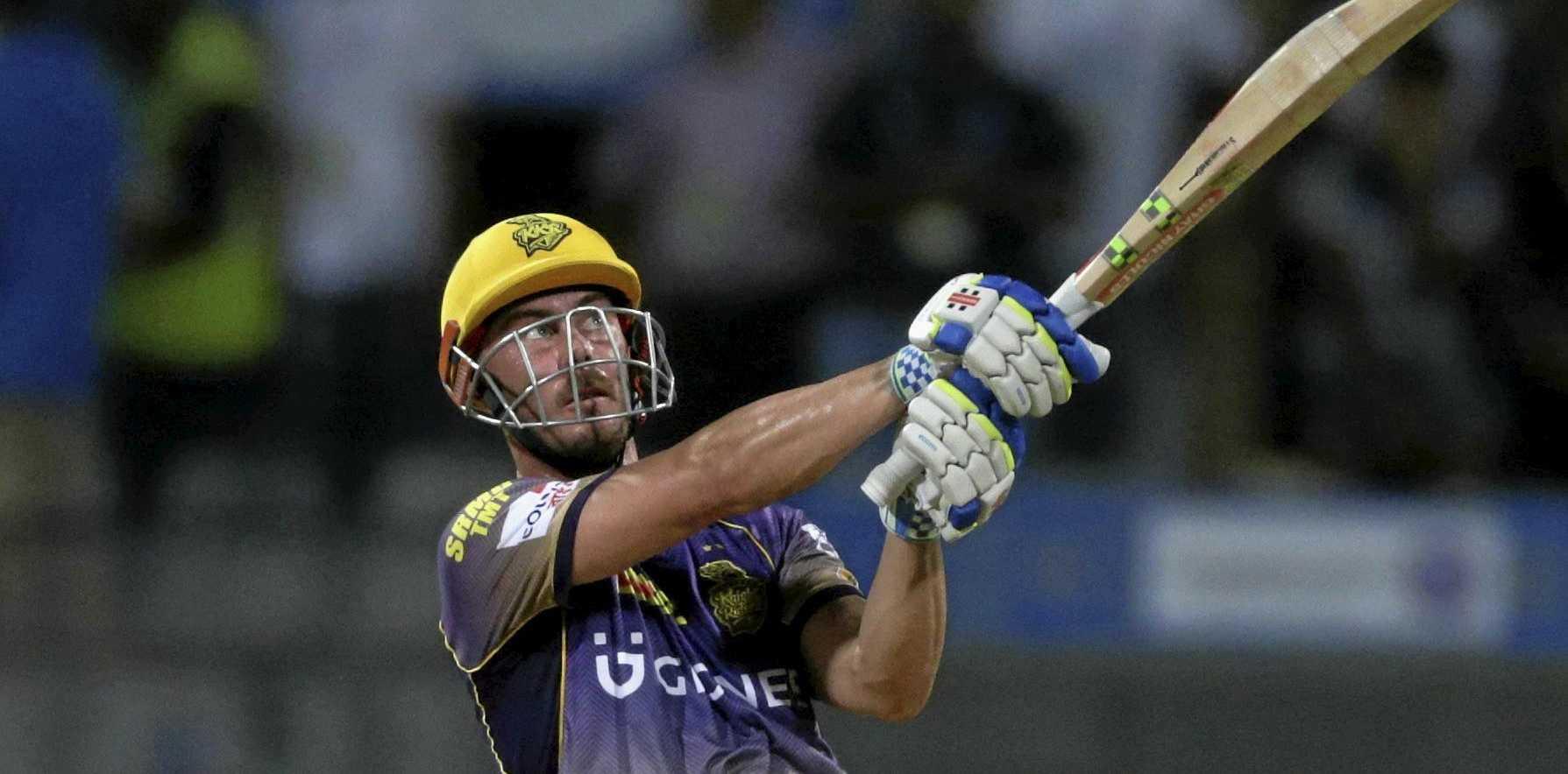 Kolkata Knight Riders batsman Chris Lynn has hurt his shoulder.