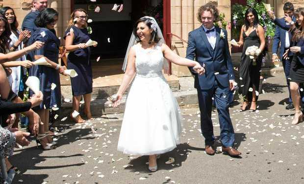 Simon Life Married Sight Queensland Times Mcquillan Marries Alene Khatcherian