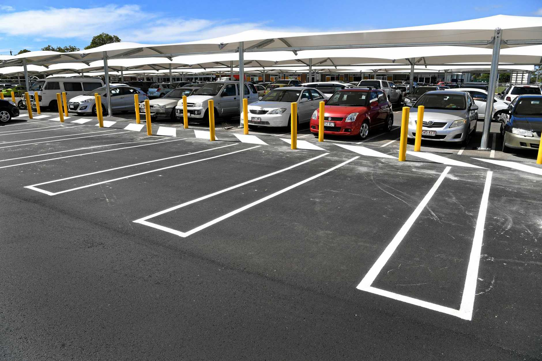 Parking markings at the Stockland Kensington shopping centre.