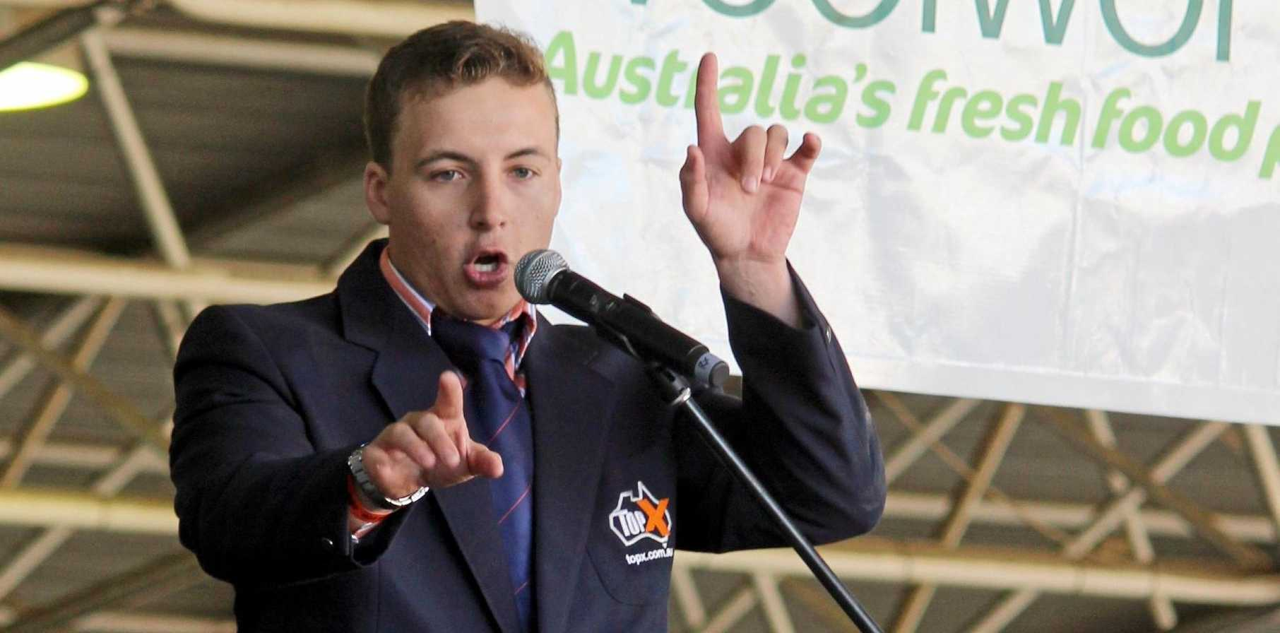 Lincoln McKinlay, from TopX Gracemere, won the National Young Auctioneer competition.