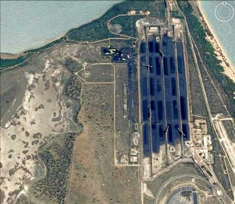 Abbot Point Coal Terminal before Cyclone Debbie tore through the area.