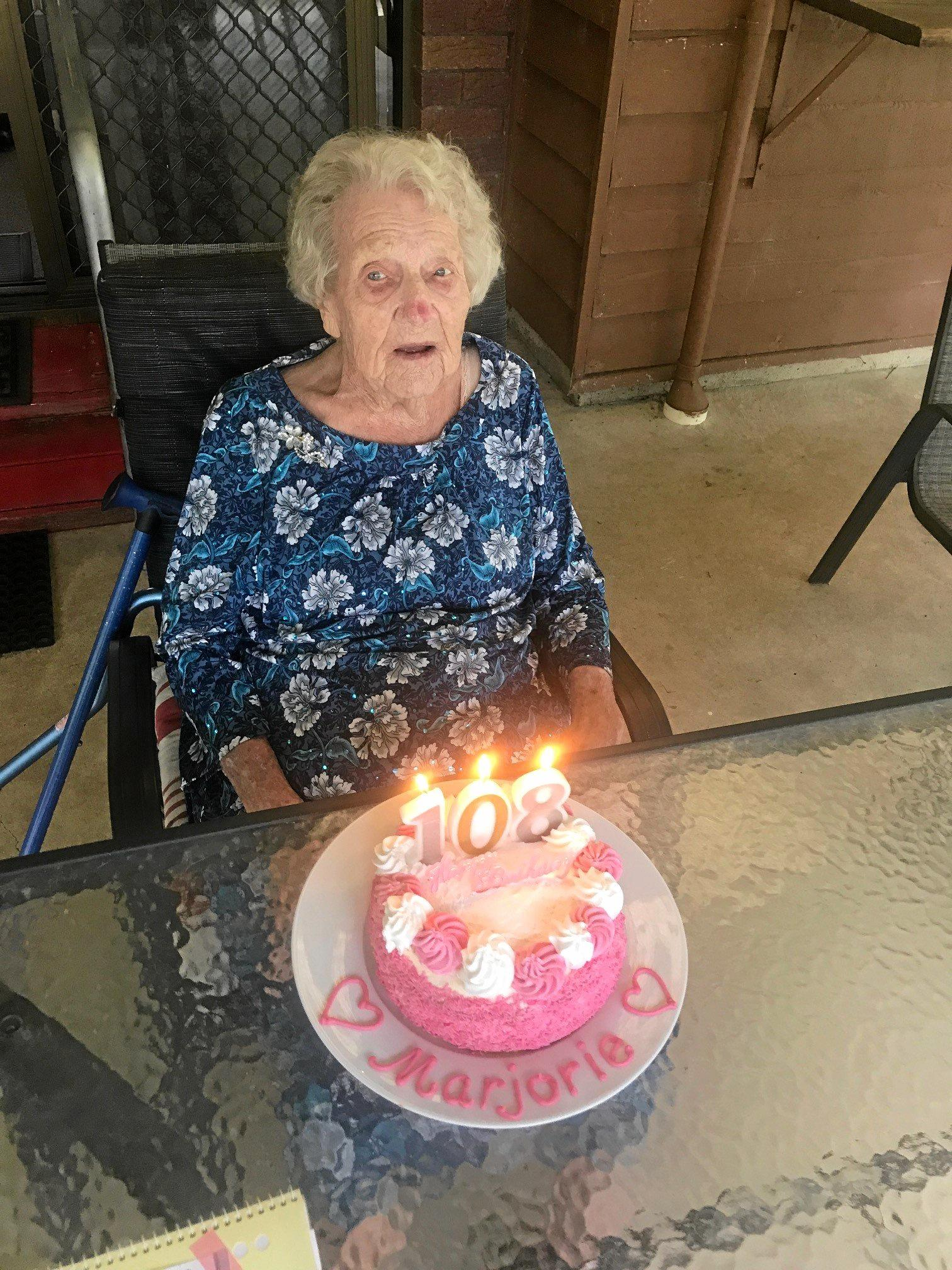 Marjorie Bostock turned 108 this month.