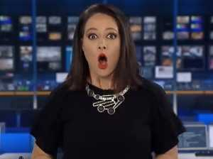 BLOOPER: Natasha Exelby forgets she's live on national TV