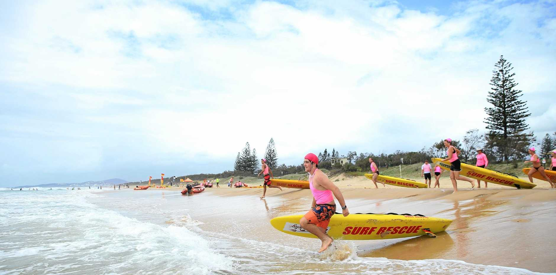 ON THE JOB: Noosa heads SLSC patrol members at Peregian Beach have been commended for their efforts.