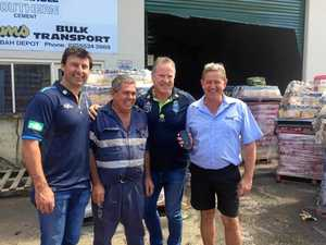 Laurie Daley front and centre in Tweed after flood
