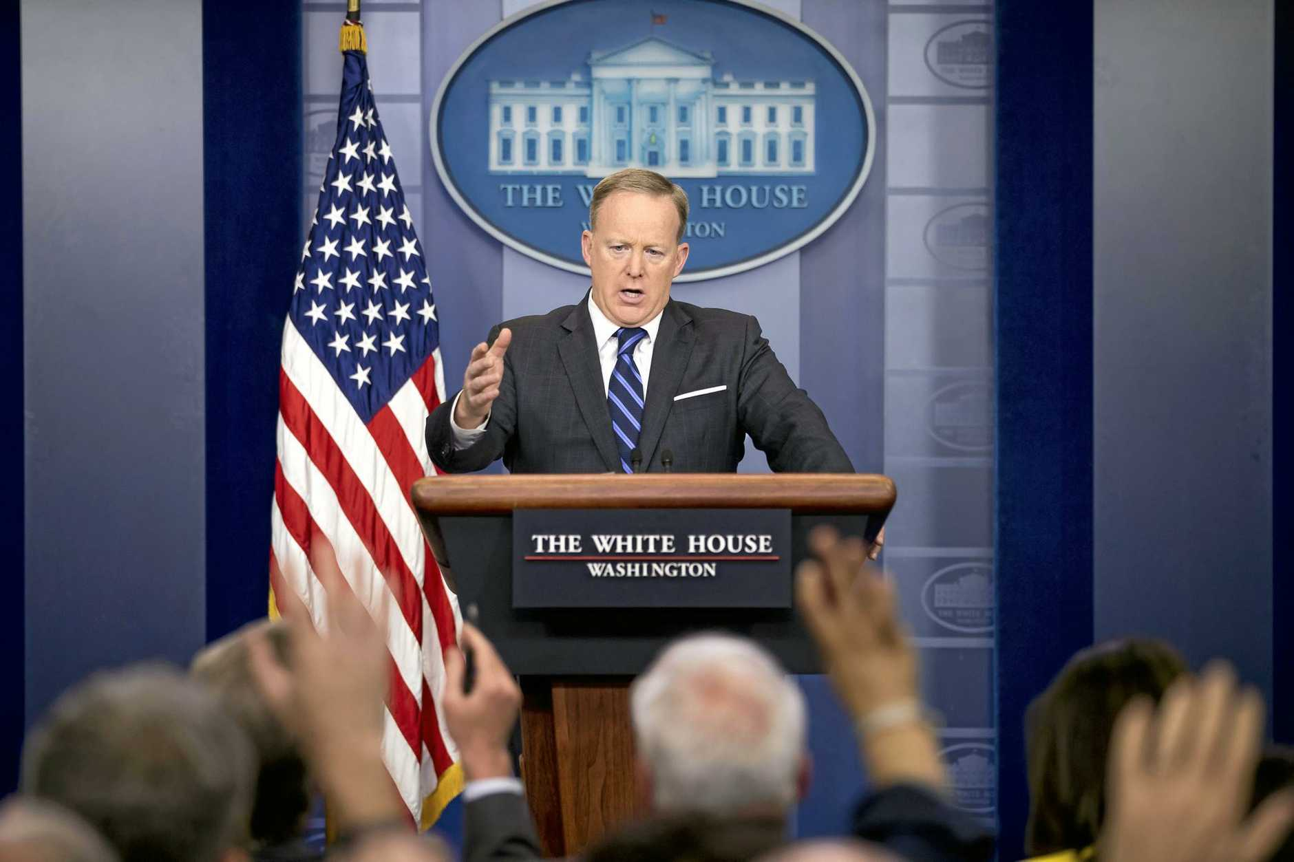 ASSAD WARNED: White House press secretary Sean Spicer says Donald Trump will respond if Syria launches chemical attacks.