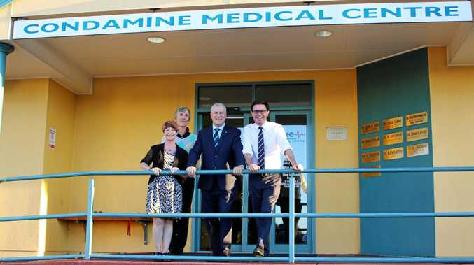 ON BUSINESS: Warwick Chamber of Commerce president Julia Keogh and chamber co-vice president and co-owner of Condamine Medical Centre Louise Clarke meeting with Minister for Small Business Michael McCormack and Maranoa MP David Litteproud.