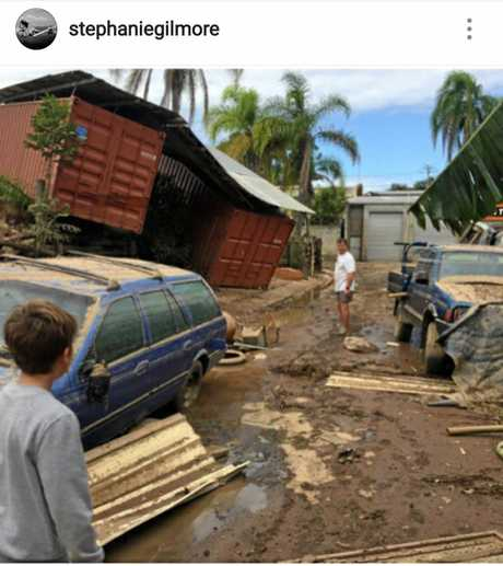 Pics posted by Stephanie Gilmore on her Instagram account to promote Tweed flood relief.