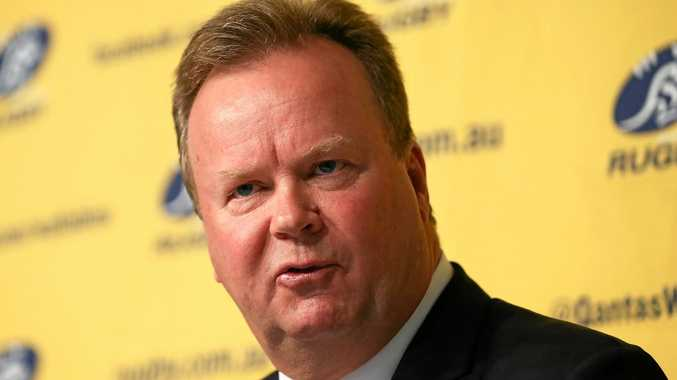 SYDNEY, AUSTRALIA - APRIL 10:  Bill Pulver, CEO of Australian Rugby Union,  speaks to the media during an ARU press conference at ARU HQ on April 10, 2017 in Sydney, Australia.  (Photo by Brendon Thorne/Getty Images)