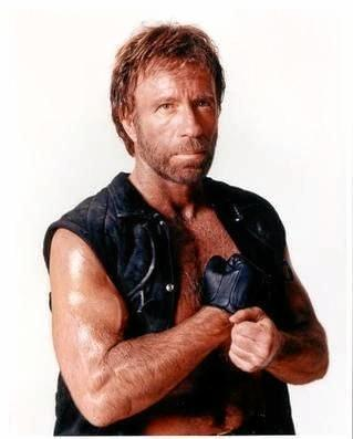 Hollywood's Chuck Norris.