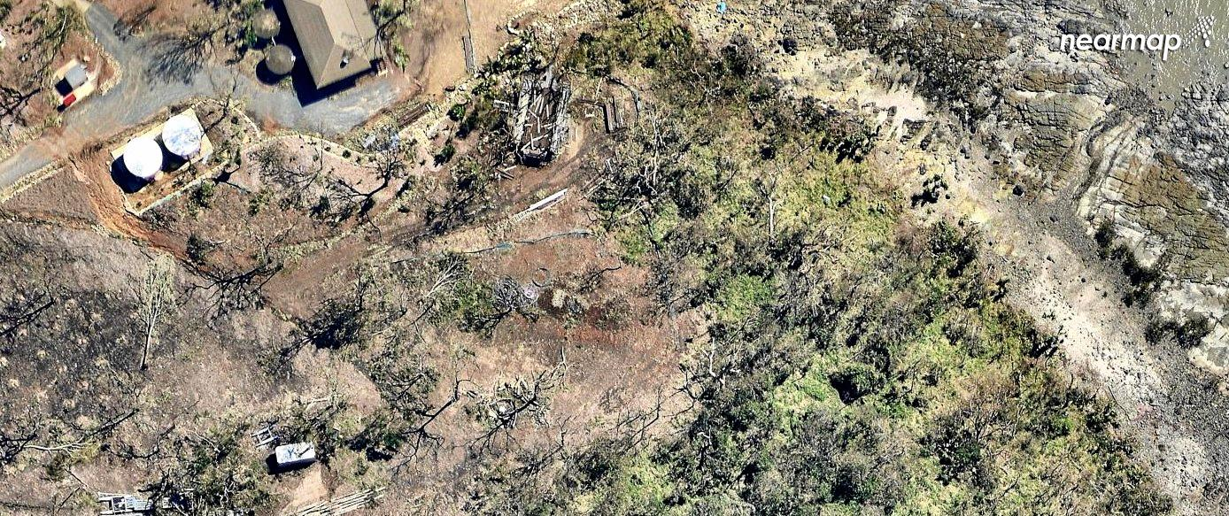Images of places such as Woodwark, near Airlie Beach, show the full devastation left by Cyclone Debbie.