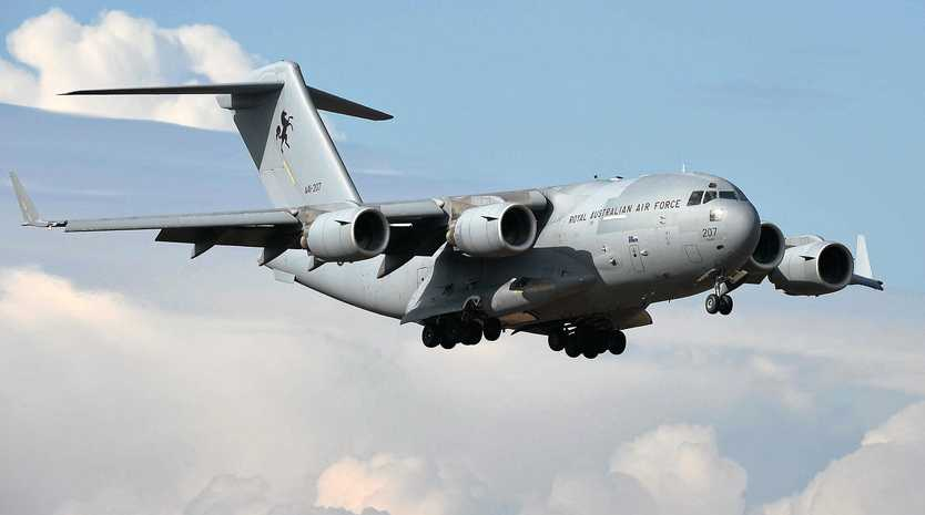 A C-17A Globemaster is among the aircraft flying over Anzac Day commemorations tomorrow.