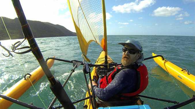 Malcolm Skelton has begun his epic 2,150km journey.
