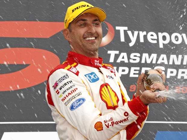 Fabian Coulthard of DJR Team Penske during the Tyrepower Tasmania SuperSprint at the Symmons Plains Raceway.