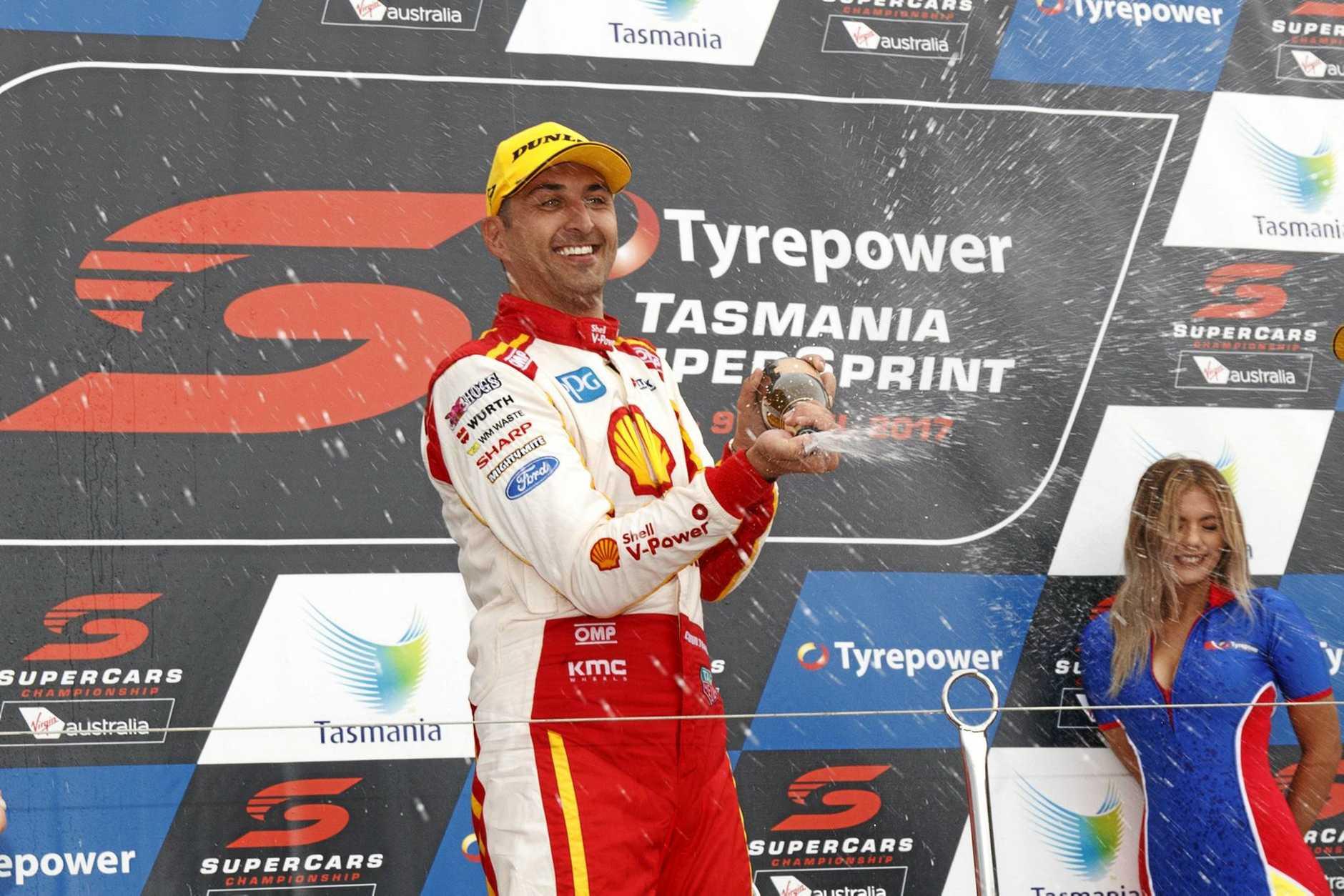 Fabian Coulthard of DJR Team Penske during the Tyrepower Tasmania SuperSprint at the Symmons Plains Raceway.