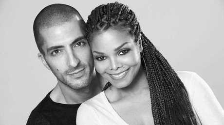 Janet Jackson with Wissam Al Mana, in a portrait taken by photographer, Marco Glaviano.
