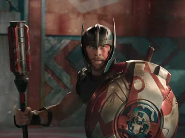Chris Hemsworth in a scene from the movie Thor: Ragnarok.