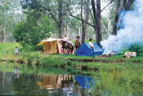 Camping in the Darling Downs.