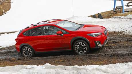 2017 Subaru XV in Japanese specification photographed on location in Japan.