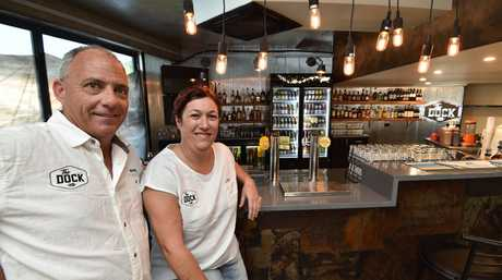 New bar at the marina - The Dock. Owners Mark and Lisa Blyth.