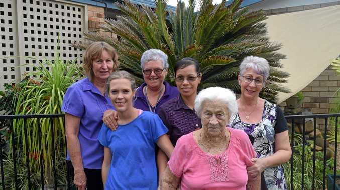 HERE TO HELP: Cheryl Beattie, Christina Van Ansem, Lyn Bradford, Yolly Foot, Grace Toon and Suzy Johnson at the Sarina Aged Care facility.