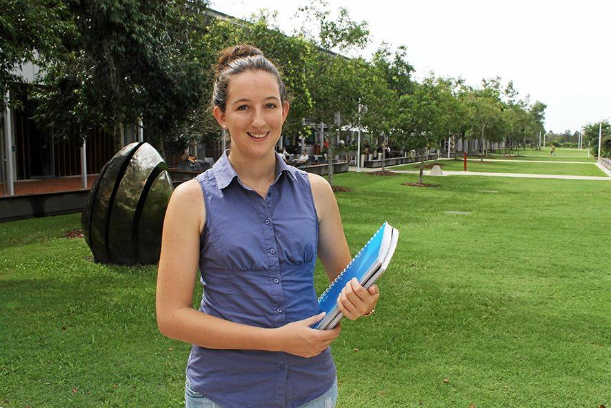 SCHOLARSHIP BOOST: Student Pheobe Gaul, from Dalby, is the inaugural recipient of a $20,000 scholarship from the University of the Sunshine Coast where she is studying occupational therapy.
