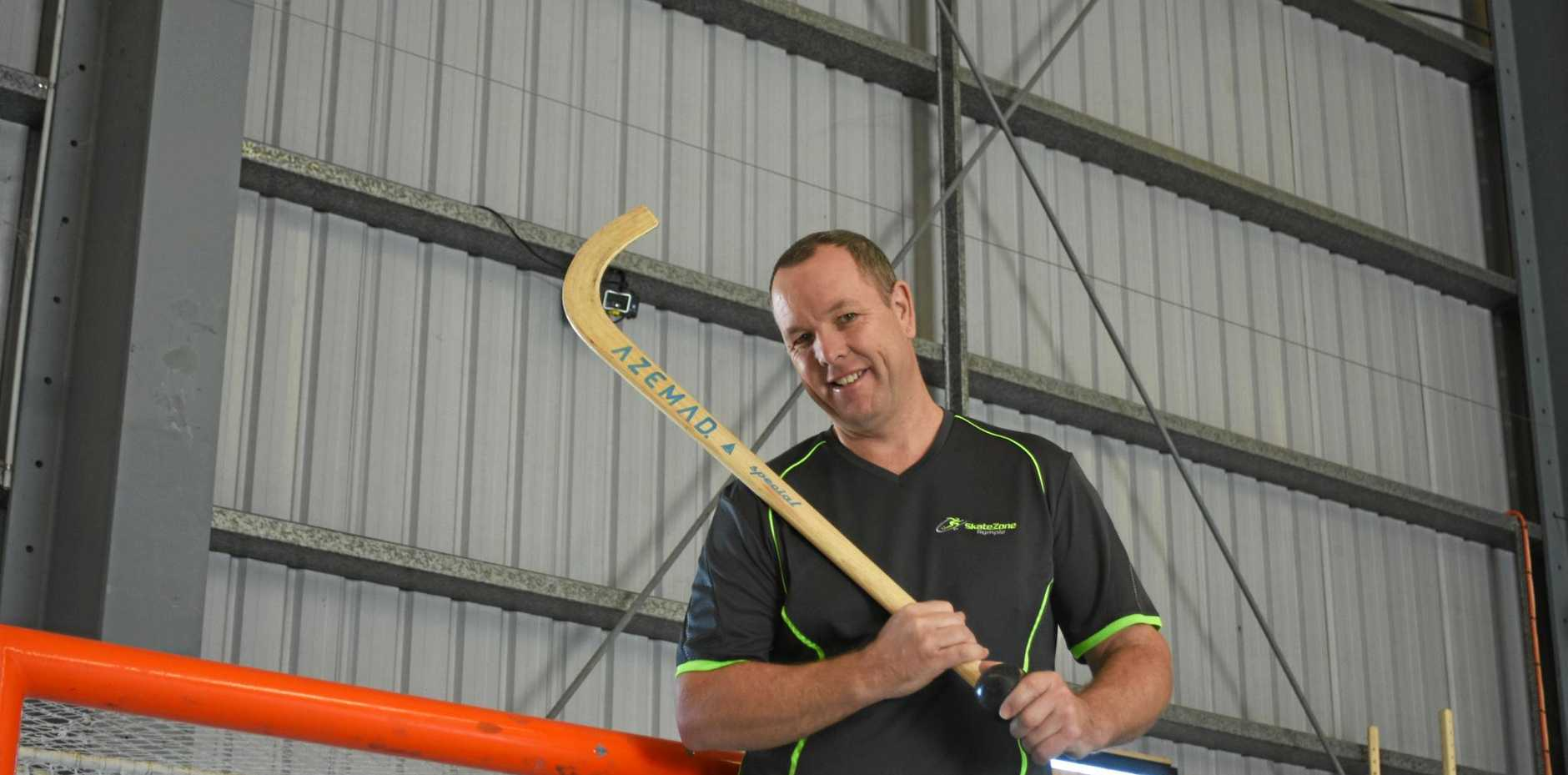 HOST: SkateZone's Darren Nyberg is excited to host an international roller-hockey event in Gympie on Saturday.