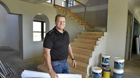UNDER CONSTRUCTION: Downs Designer Homes owner Jeff Bubeck inside the incredible residence.