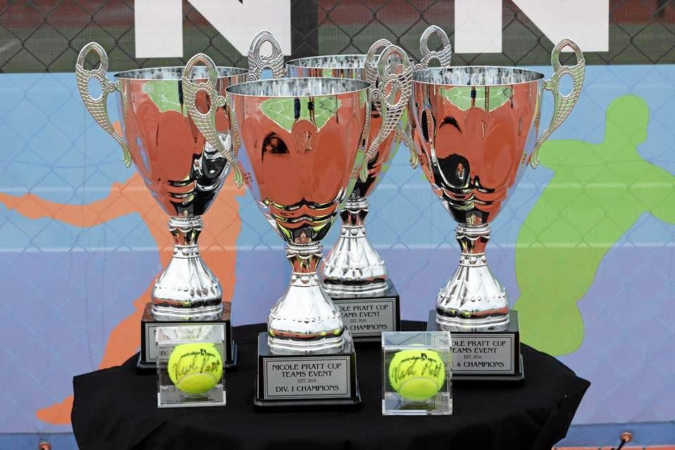 UP FOR GRABS: The winning trophies for the Mid North Tennis Championships taking place this weekend.