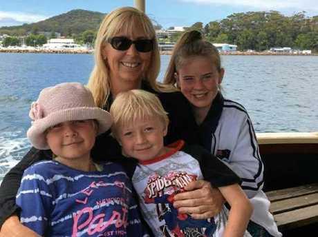 Stephanie King and her children, Ella-Jane Kabealo, Chloe Kabealo, and Jacob Kabealo.
