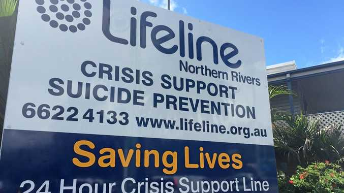 Lifeline sign for those in need of assistance after the 2017 Lismore Floods.